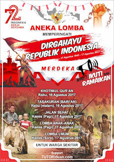 Free Poster Lomba 17 Agustus