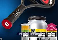 Logo Concorso ''Wilson May 19'': vinci gratis una racchetta Wilson e un kit di prodotti SiS