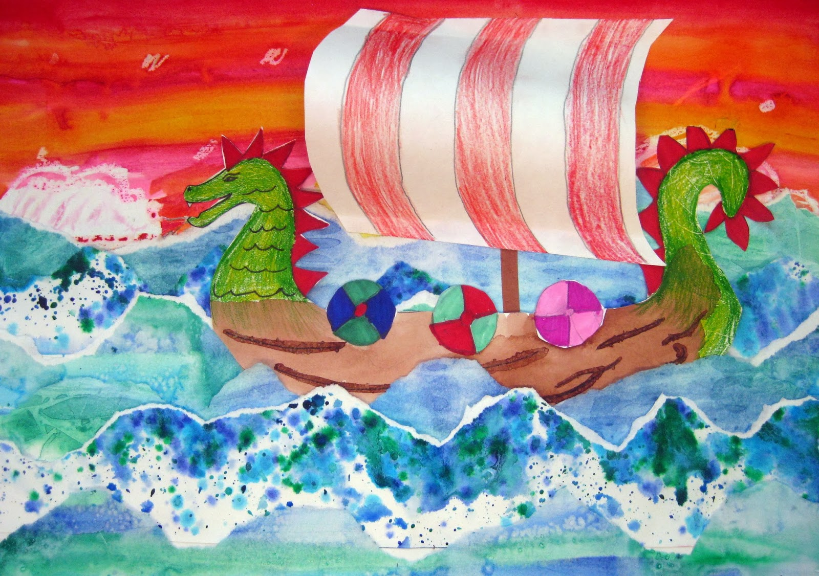 cassie stephens in the artroom 4th grade viking ships