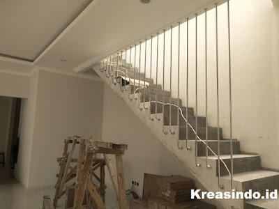 Mezzanine, Railing Balkon, Railing Stainless, Brecket Wika Solar dan Tangga Besi pesanan Bpk Sony di BSD Tangerang