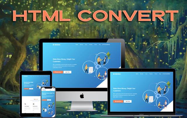 Html Convert Responsive Blogger Template