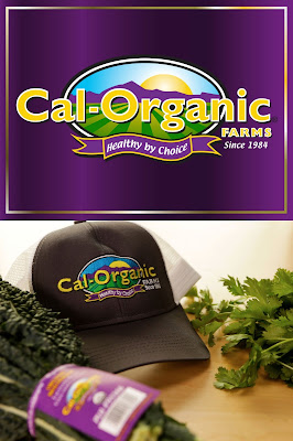Cal-Organics vegetables and hat