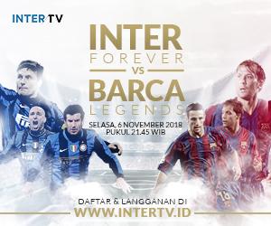Streaming Inter Forever vs Barcelona Legends