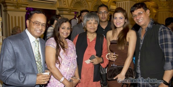 kiran kc, arunima lamsal,rajesh hamal and madhu bhattarai wedding