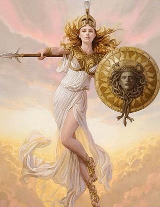 nữ thần Atêna-con của Dớt