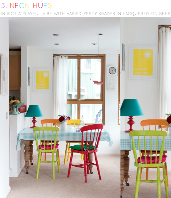 Three Ways To Add Colour With Dining Chairs Bright