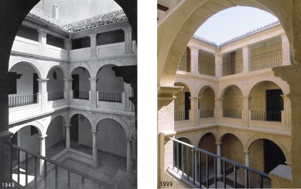 palacio abacial, alcala la real, restauracion, historia