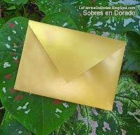 Fabricantes Sobre dorado para tarjeta de boda en guatemala