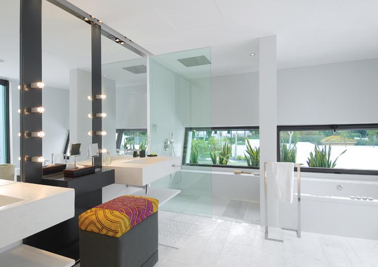 Construindo Minha Casa Clean Banheiros Sofisticados com  ~ Bancada De Granito Para Quarto