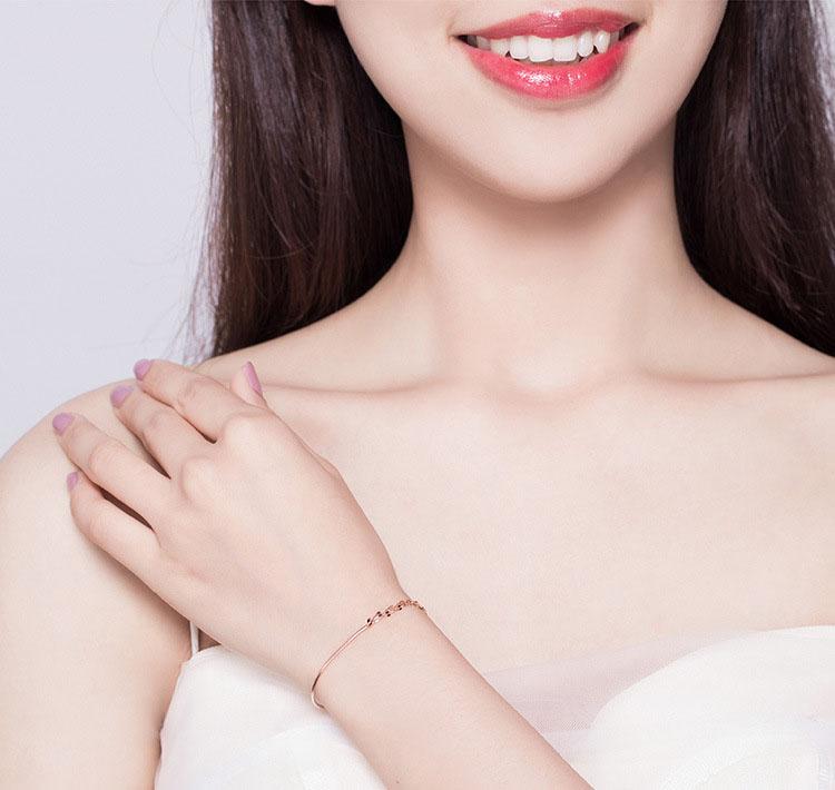 簡約風柔美雙層 925純銀手鍊