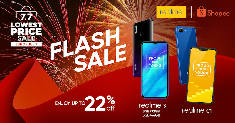 Get up to 22 percent off with Realme on Shopee's 7.7 Lowest Price Sale