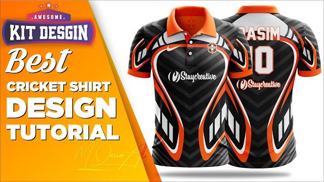 Best Cricket Shirt Design Tutorial in Photoshop cc 2019 by M Qasim Ali