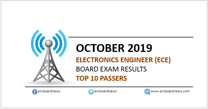 Top 10 Passers: October 2019 ECE board exam result