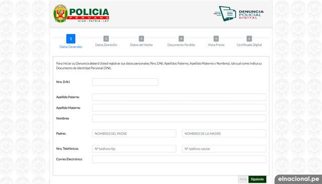 ¿Cómo hacer denuncia policial en linea por internet?