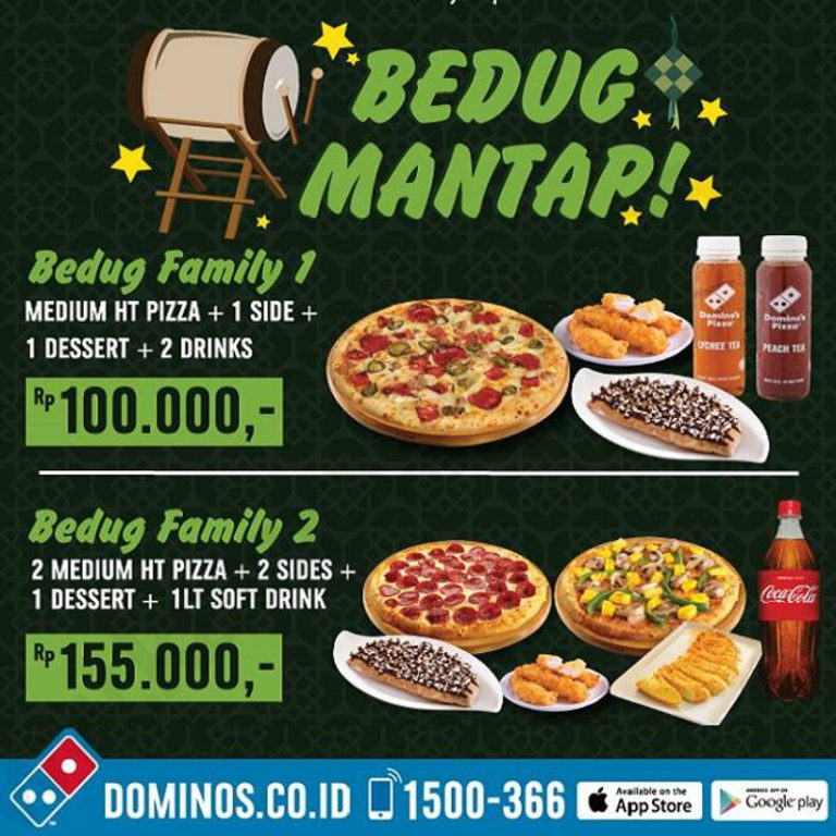 Menu dan Harga Domino's Pizza Promo Bedug Family 2017