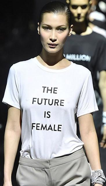 The Future is Female Tee of Bella Hadid.  PYGear.com