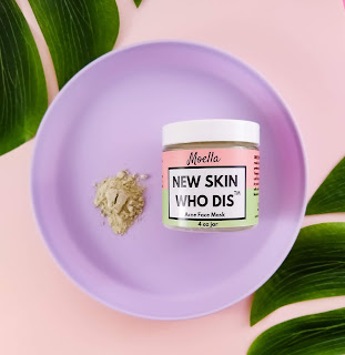new skin who dis face mask, clay mask, face mask for acne