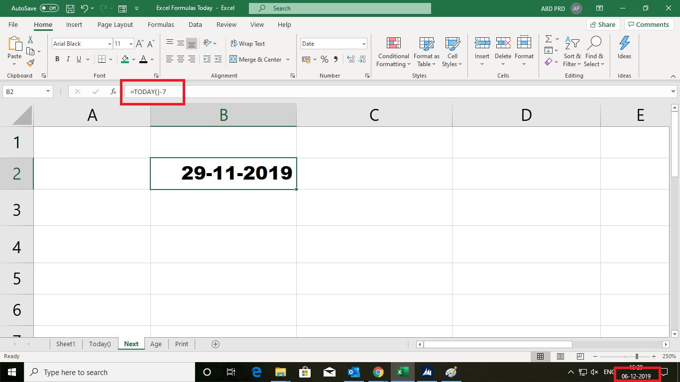 सिंपल Excel Formula Today(), 5 महत्वपूर्ण उपयोग, जो सबको सीखना जरुरी है |