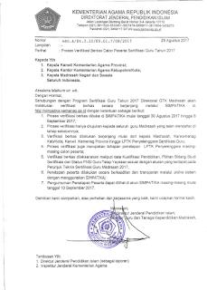 cara verifikasi berkas calon peserta sergur kemenag madrasah