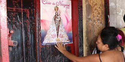 imagem do cartal de Nossa Senhora de Nazaré