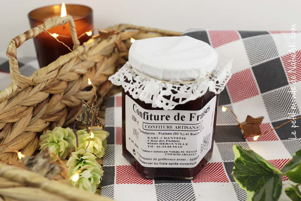confiture de fraise produit local