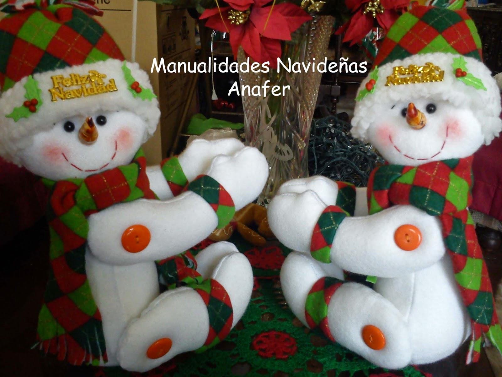 Manualidades anafer mu ecos cortineros - Manualidades munecos de navidad ...