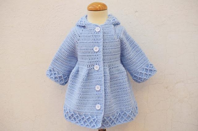 1 -Crochet Imagen Abrigo azul a crochet y ganchillo por Majovel Crochet