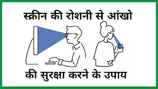 Tips to protect your eyes from Harmful Screen Light in Hindi