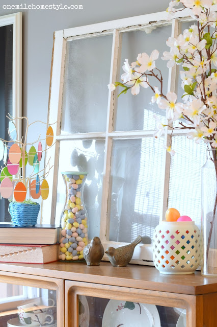Simple and Beautiful Easter Decor - One Mile Home Style