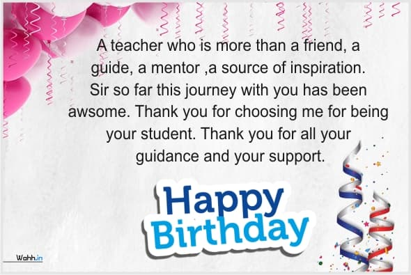 Heart Touching Birthday Wishes For Teacher With Images