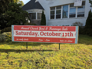 Franklin Federated Church - Yard Sale - Oct 13