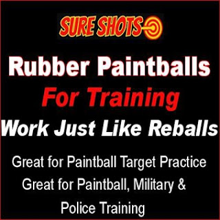 Rubber Training Paintballs for Paintball Practice and Training
