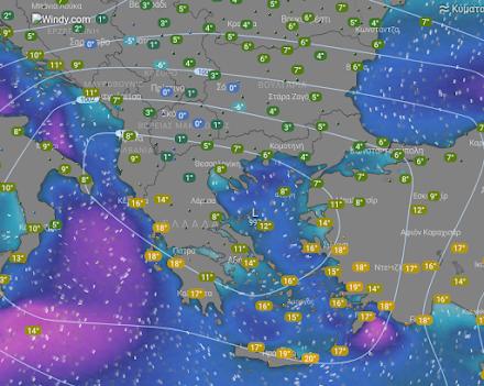 Ισχυρές βροχές αύριο στη χώρα - Χιονοπτώσεις στα ορεινά και ημιορεινά της Βορειοδυτικής Ελλάδας