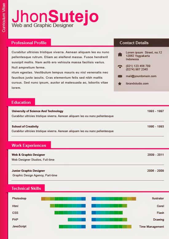 Free Creative Resume Template 20