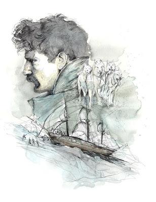 Acuarela y barco