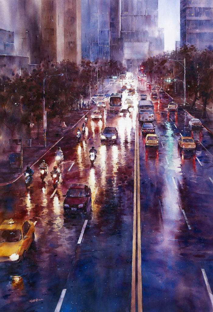 Акварельная живопись. Lin Ching Che 13