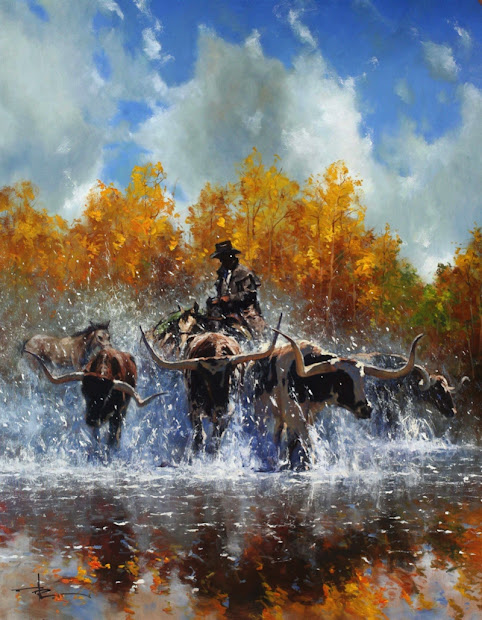 Robert Hagan 1947 Western Painting Tutt'art