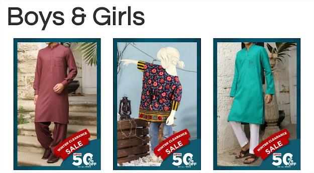 J. Junaid jamshed sale on boys & Girls