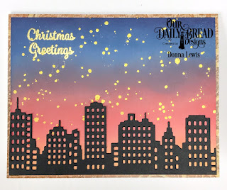 ODBD Products:  Stamp/Die Duos: Christmas Greetings (sentiment) Custom Dies: City Skyline  Paper Collection: Winter 2014