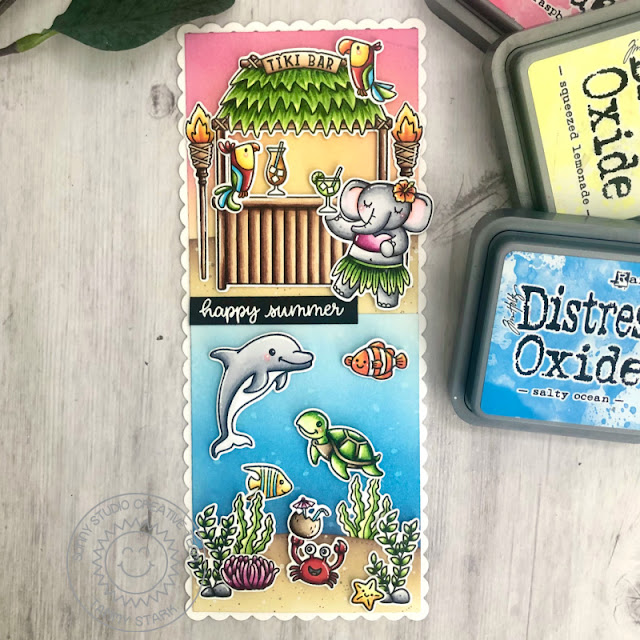 Sunny Studio Stamps: Tiki Time Oceans Of Joy Best Fishes Card by Tammy Stark