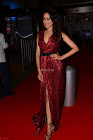 Pragya Jaiswal stunning Smiling Beauty in Deep neck sleeveless Maroon Gown at 64th Jio Filmfare Awards South 2017 ~  Exclusive 031.JPG