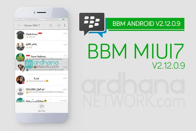 BBM MIUI 7 - BBM Android V2.12.0.9