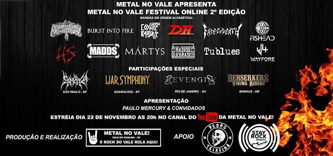 Cobertura de Evento:  Metal no Vale Festival Online  2ª Edição