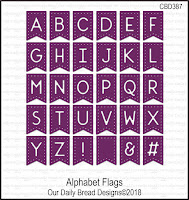 ODBD Custom Alphabet Flags Dies