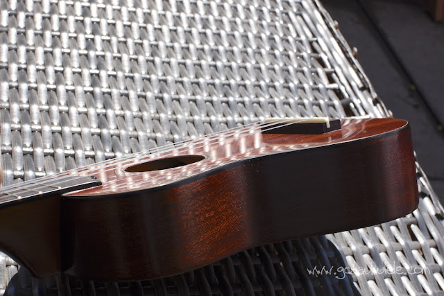 Hamano ukulele polished back top