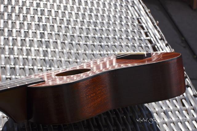 Hamano ukulele polished back top