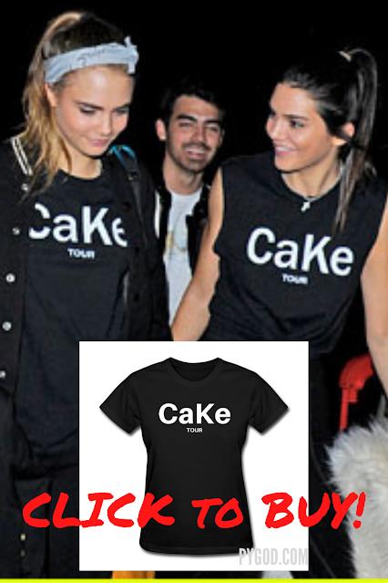 Cara Delevingne & Kendall Jenner 'CaKe' Fashion Line T-Shirt.  PYGear.com