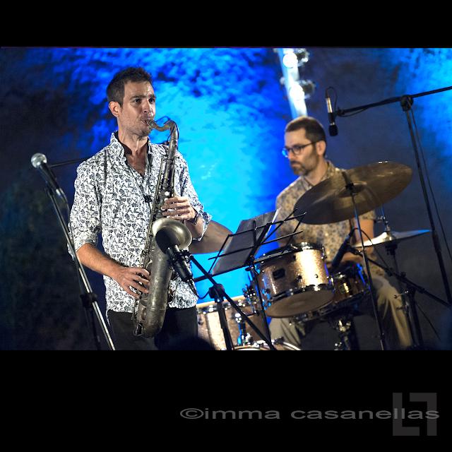Gabriel Amargant amb Ramon Prats, Torre-Ramona, Subirats, 20-juliol-2019