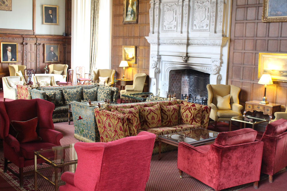 Rushton Hall lounge, Northamptonshire - UK luxury travel blog