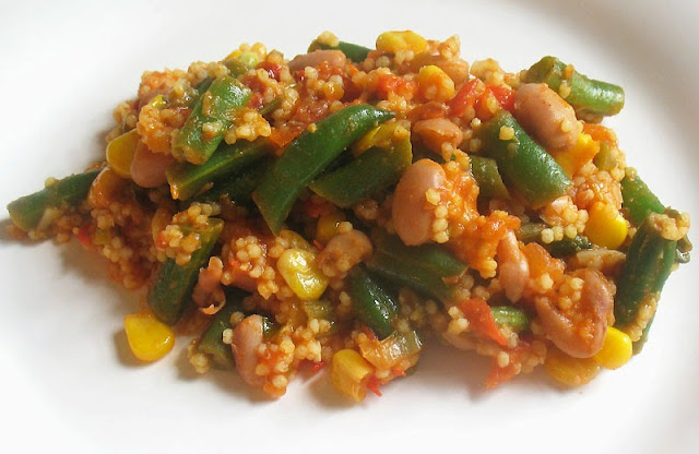 Pinto and Greem Bean Stir-fry